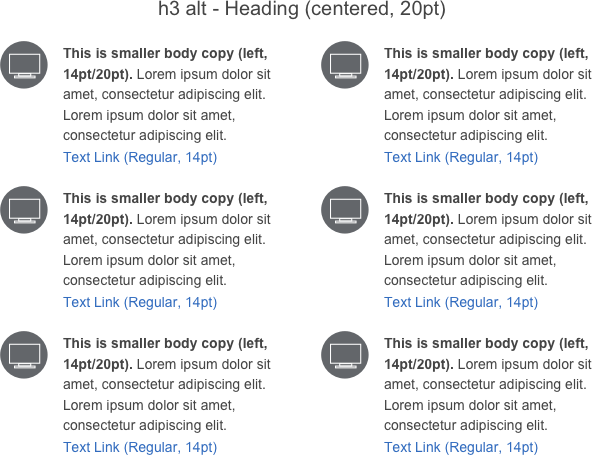 Secondary Content with Icons | Optum Email DPL